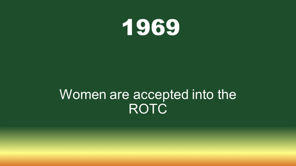 1969 women are accepted into ROTC