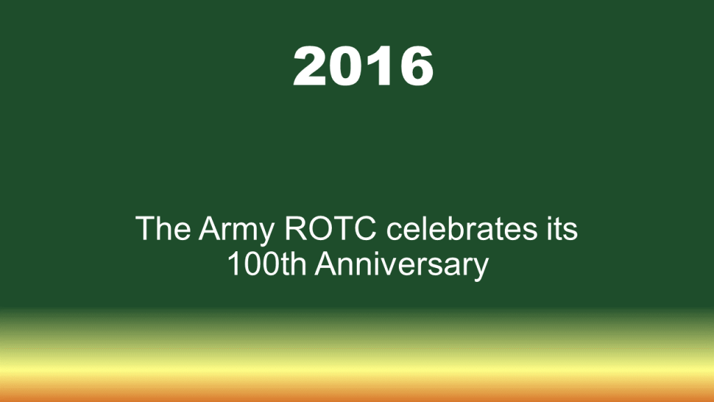 2016 100 year anniversary of ROTC