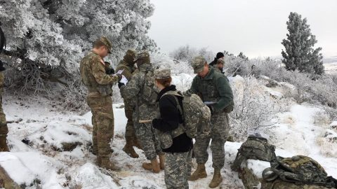 cadets conduct training in the snow